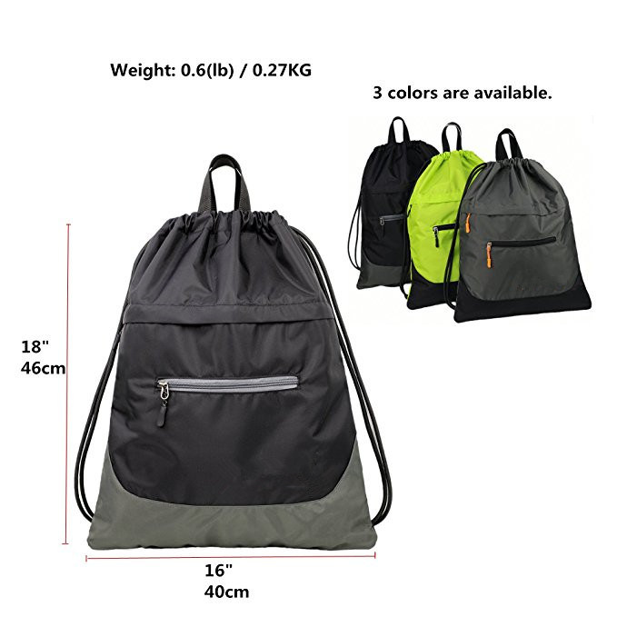 f499d8b6db00 China Drawstring Gym Bag for Men Women Sports Sack Light Backpack ...