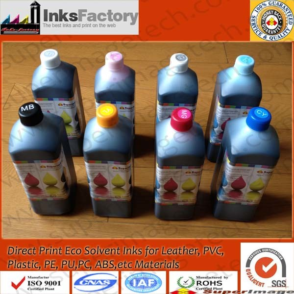 Uncoating Direct Eco Solvent Ink for Leather/PU/PC/PVC/Plastic/ABS