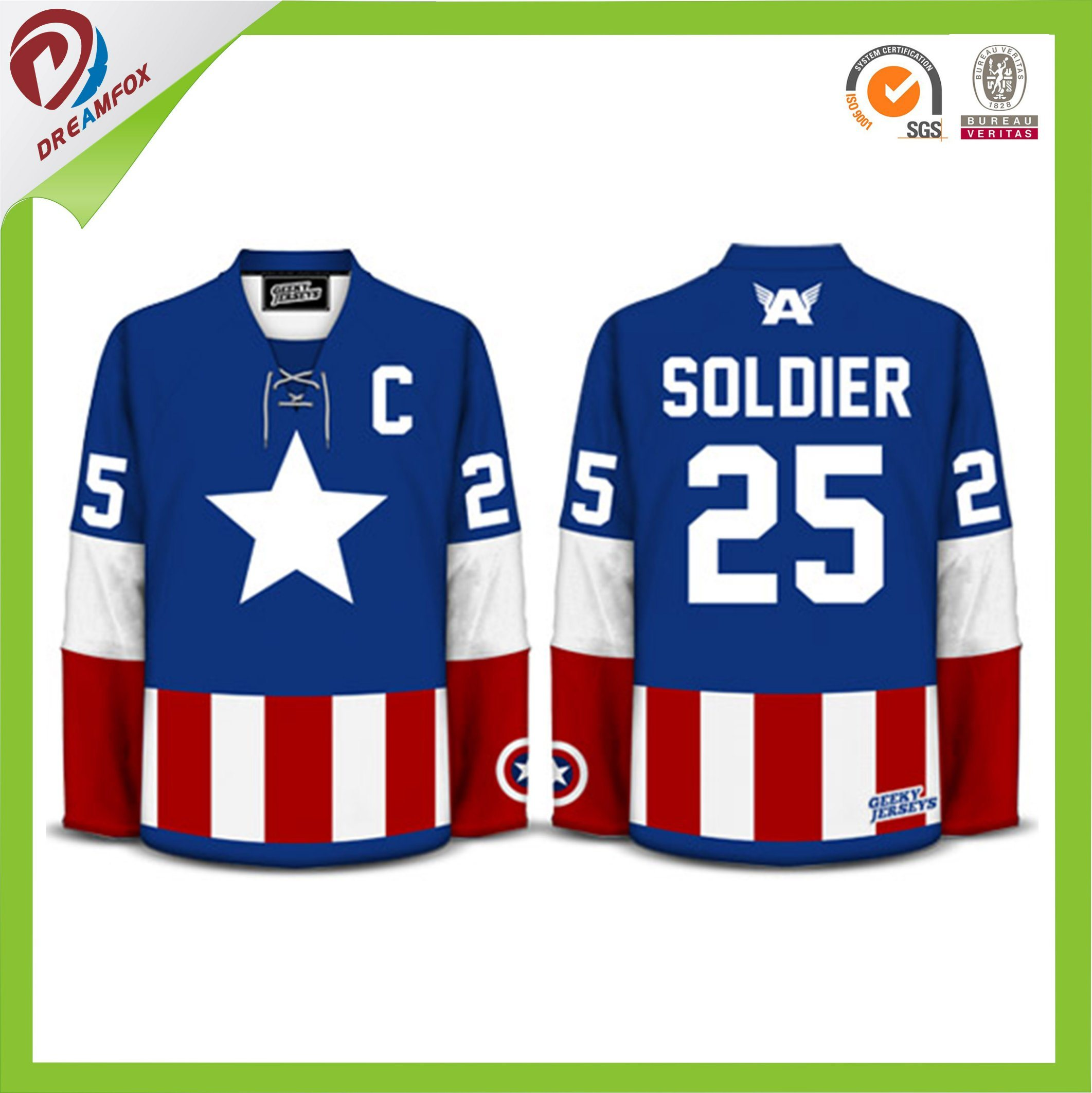 16af3ea07 China 100% Polyester Full Sublimation Printing Customized Ice Hockey Jersey  with Lower MOQ - China Ice Hockey Jersey with Lower MOQ