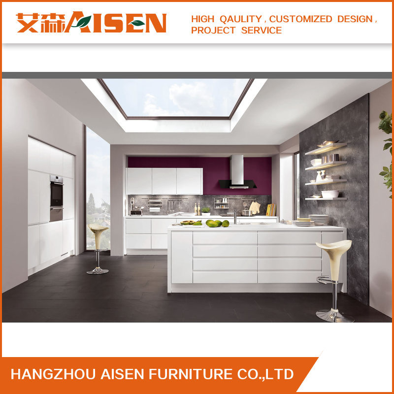 Hot Item Modern Design Handless High Gloss Lacquer Finish Kitchen Cabinets Furniture