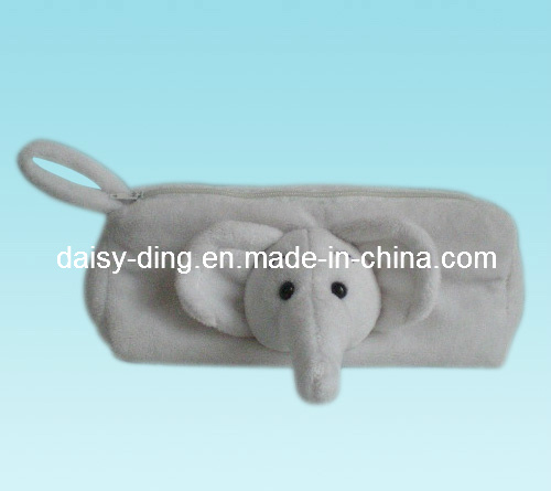 Plush Elephant Pencil Case with Soft Material