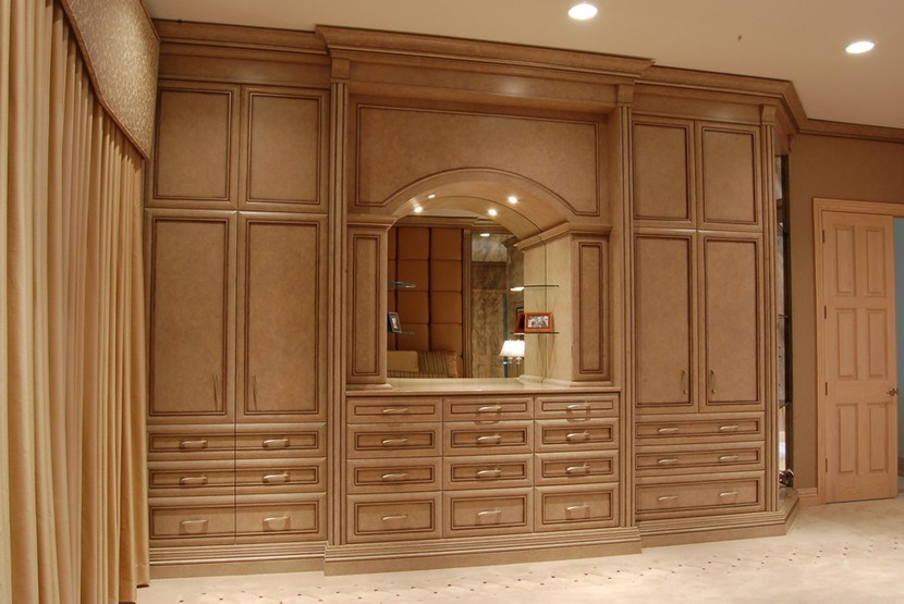Solid Wood Wardrobe, Bedroom Furniture #Yb-10