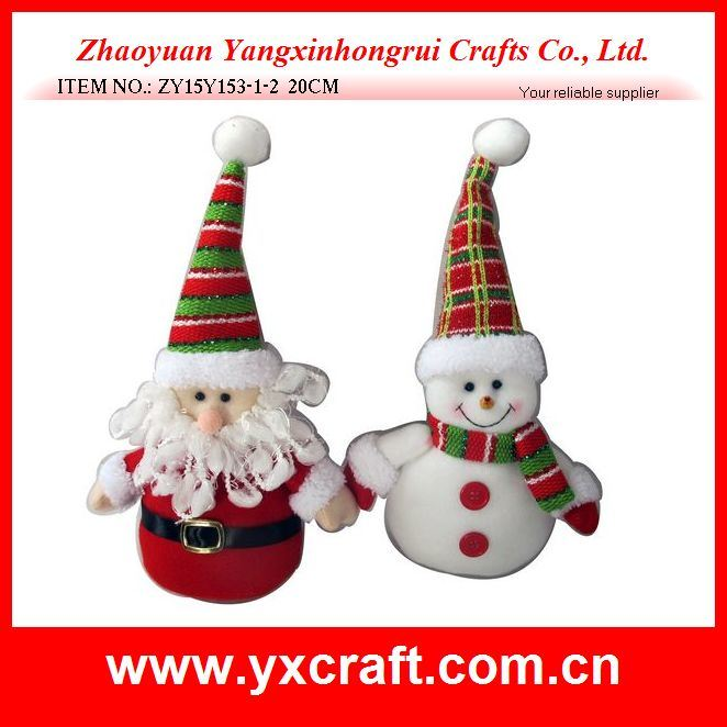 Christmas Decoration (ZY15Y153-1-2) Christmas Plush Toy Art Craft