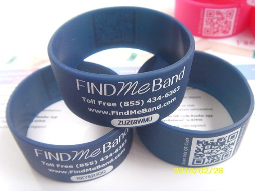 [Hot Item] Medical ID Bracelet Silicone Band with Qr Code Ify-606