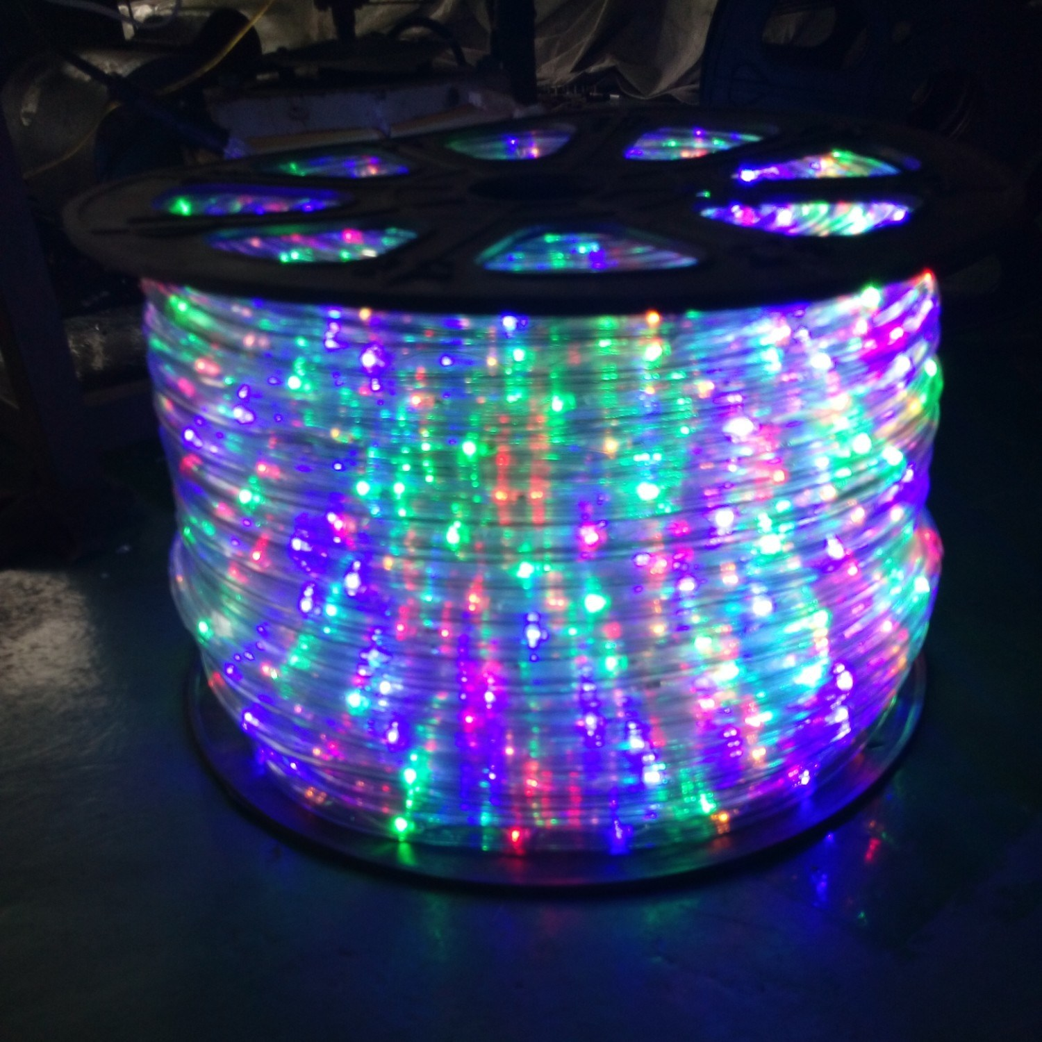 China christmas rope 150 feet 12 thick multi color rgb pre christmas rope 150 feet 12 thick multi color rgb pre assembled led rope lights with 10 25 50 100 option christmas holiday decoration esg10433 aloadofball Choice Image