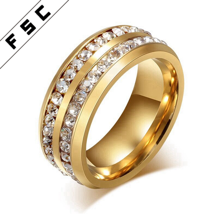 f5a3d1039 China Latest Design Zircon Diamond Gold Plated Engagement Wedding Rings for  Women - China Gold Rings, Wedding Ring