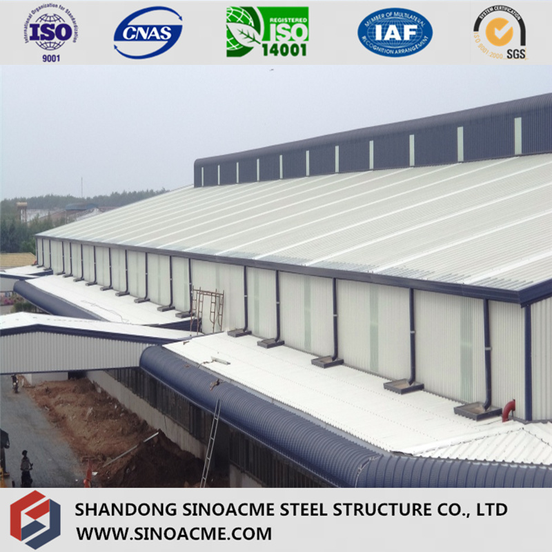 China Steel Frame Workshop with Overhang Canopy Photos & Pictures ...