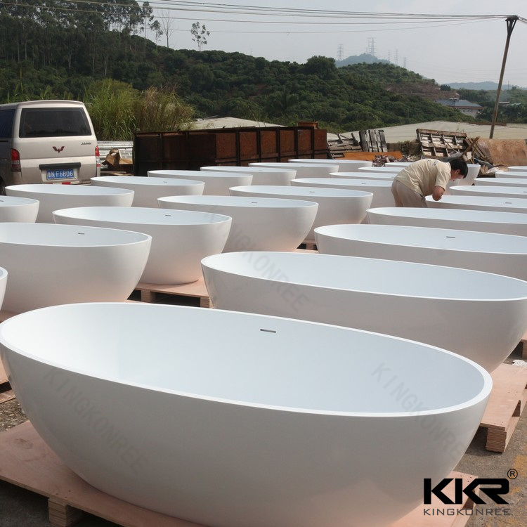 China Kkr Solid Surface Shower Oval Bathtub Price Photos & Pictures ...