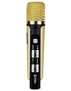 [Hot Item] Mini Condenser Microphone for iPhone Karaoke Mobile Phone  Karaoke Machine for Singing APP Smule Yokee Starmaker Noise Reduction Echo