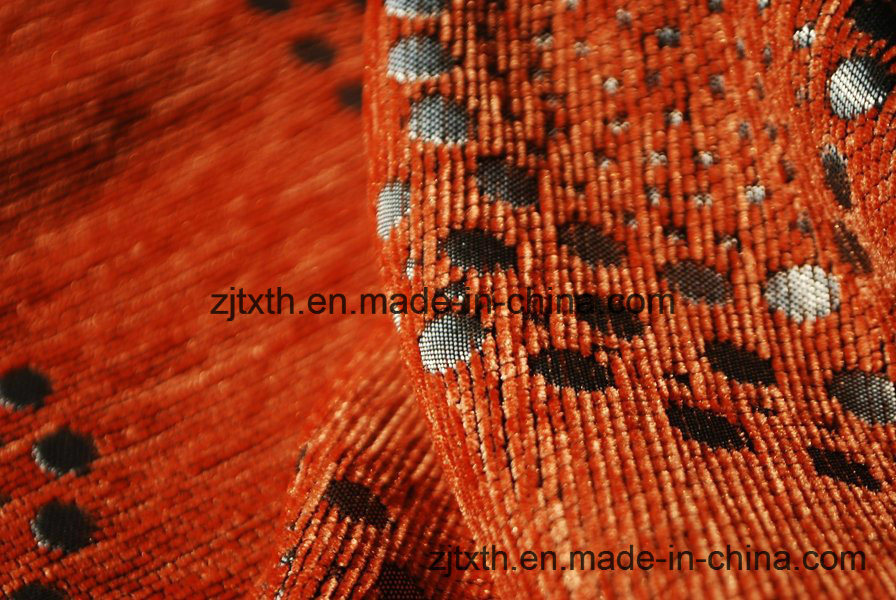 China Polyester Chenille Fabrics for Sofa with Various