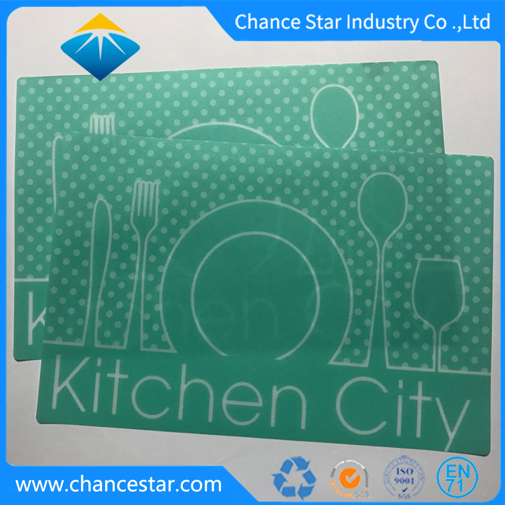 China Custom Printed Restaurant Use Plastic Table Mat - China ...