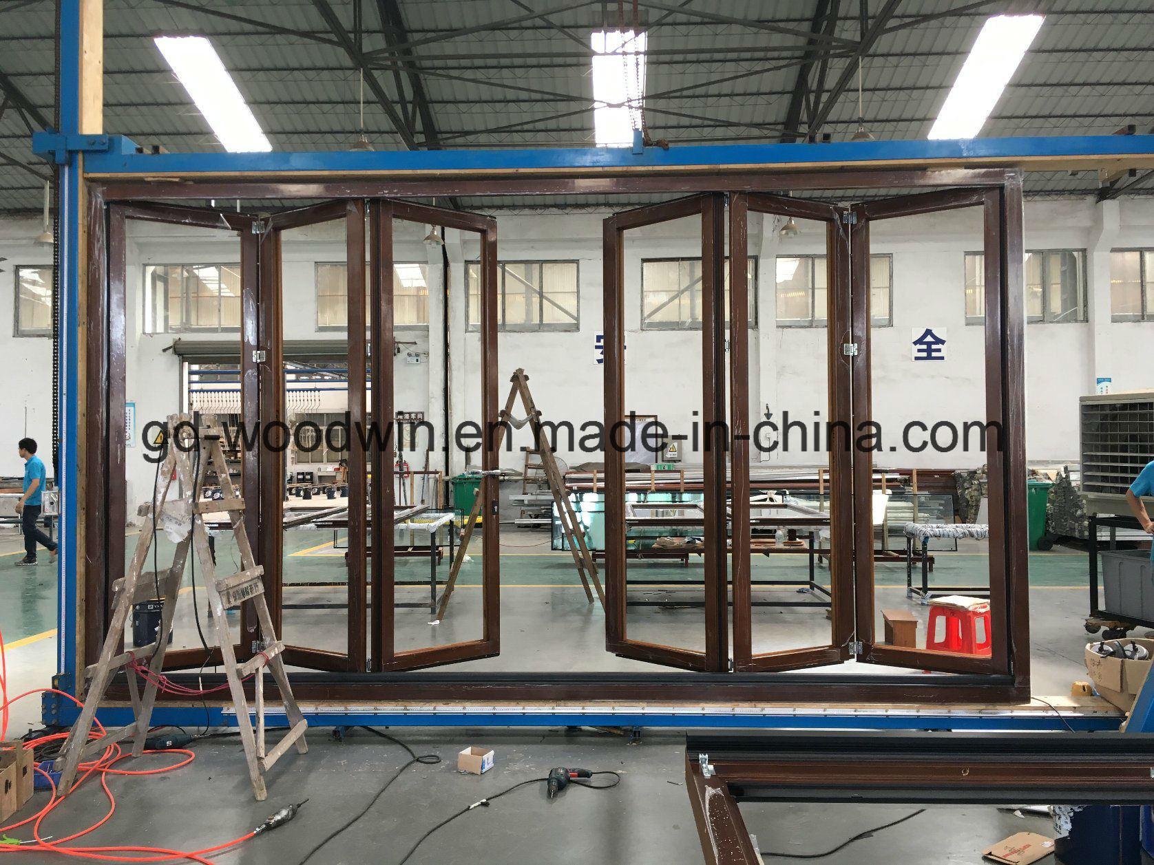 China Aluminum Exterior Bifold Dooraluminium Folding Patio Doors