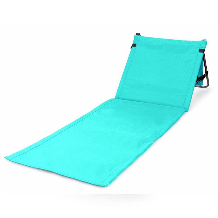 Miraculous Hot Item Sturdy Metal Frame Foldable Sun Chaise Lounge Beach Chair With Pocket Creativecarmelina Interior Chair Design Creativecarmelinacom