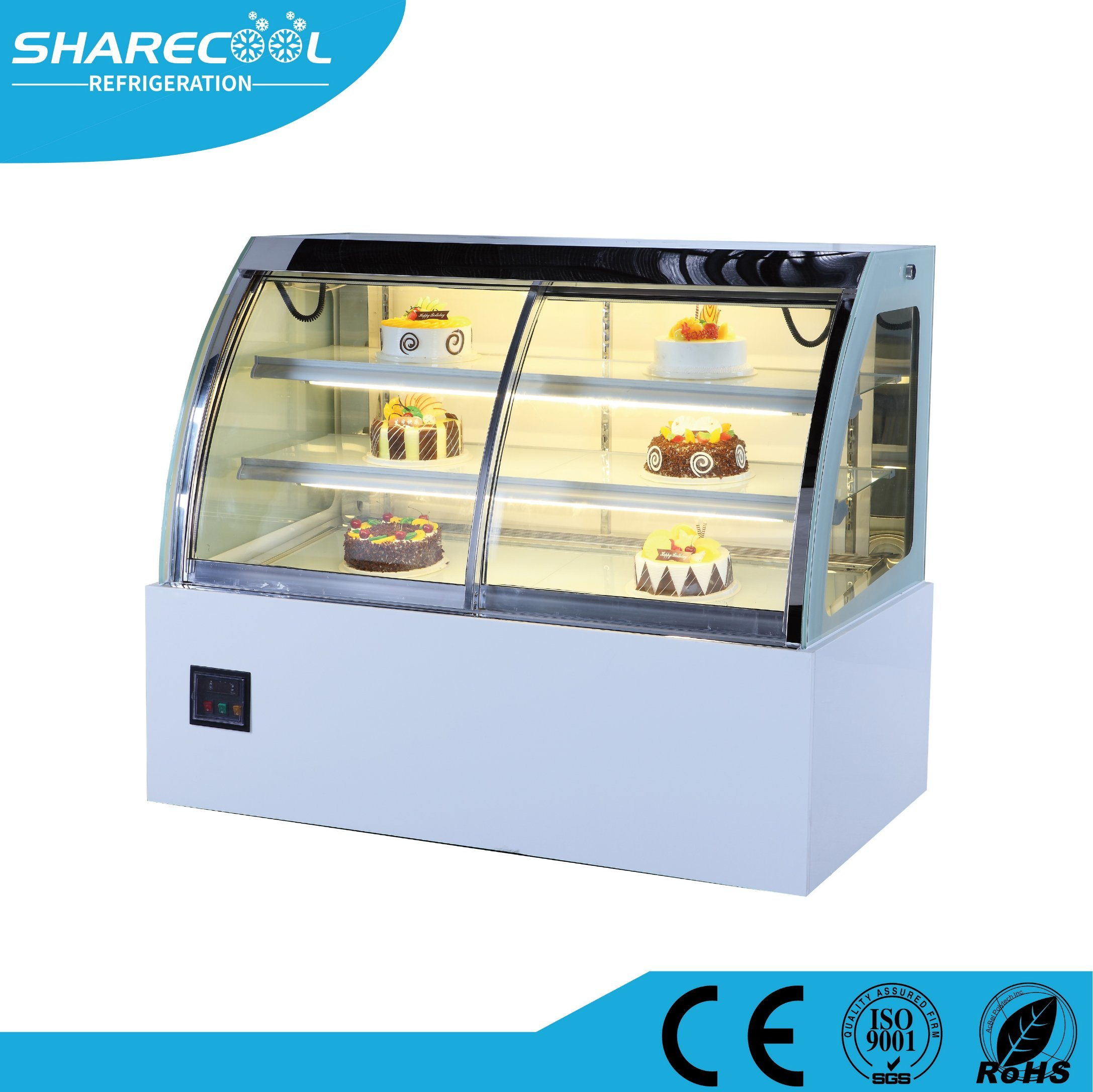 China Oem Cake Display Refrigerator For Pastry And Bakery Shop