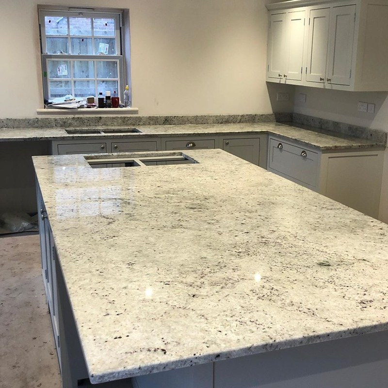 China White Granite Stone Countertop For Kitchen Cabinets Restaurant Table Top Workbench Bench Solid Surface China Countertop Granite Countertop