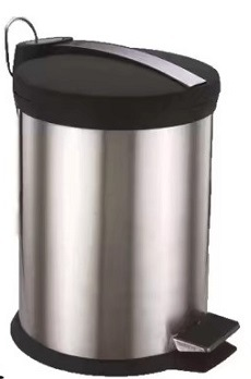 Hot Item Stainless Steel Round Pedal Trash Can Kitchen Garbage Trash Can Kl 011 20l