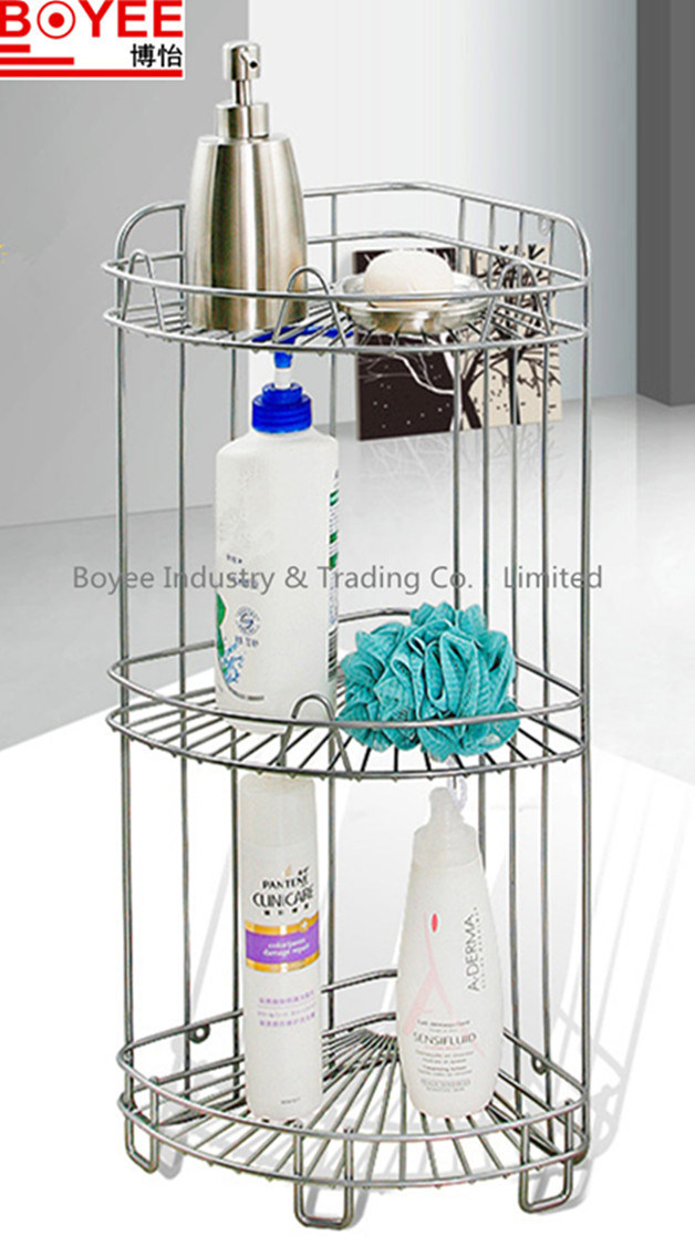 China Metal Bathroom Shampoo Shower Rack with Plastic Shower Caddy ...