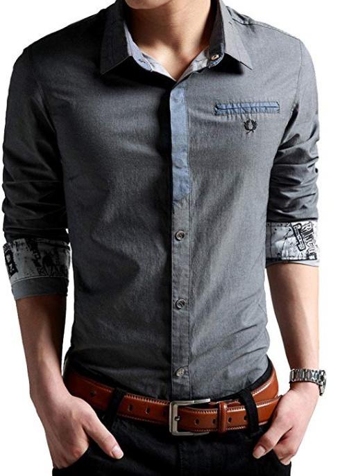 6aed519dca1 China Men′s Oxford Casual Shirt Long Sleeve Button Down Dress Shirt ...
