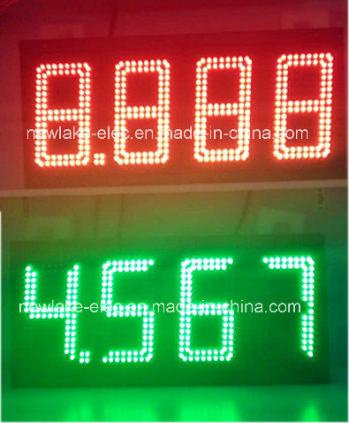 Yellow 8 LED Gas Station Electronic Fuel Price Sign 888