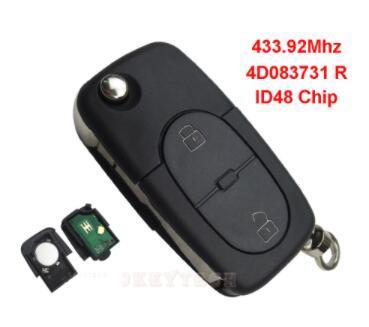 China For Audi A A A Flip Folding Remote Control Car Key Fob - Audi car key