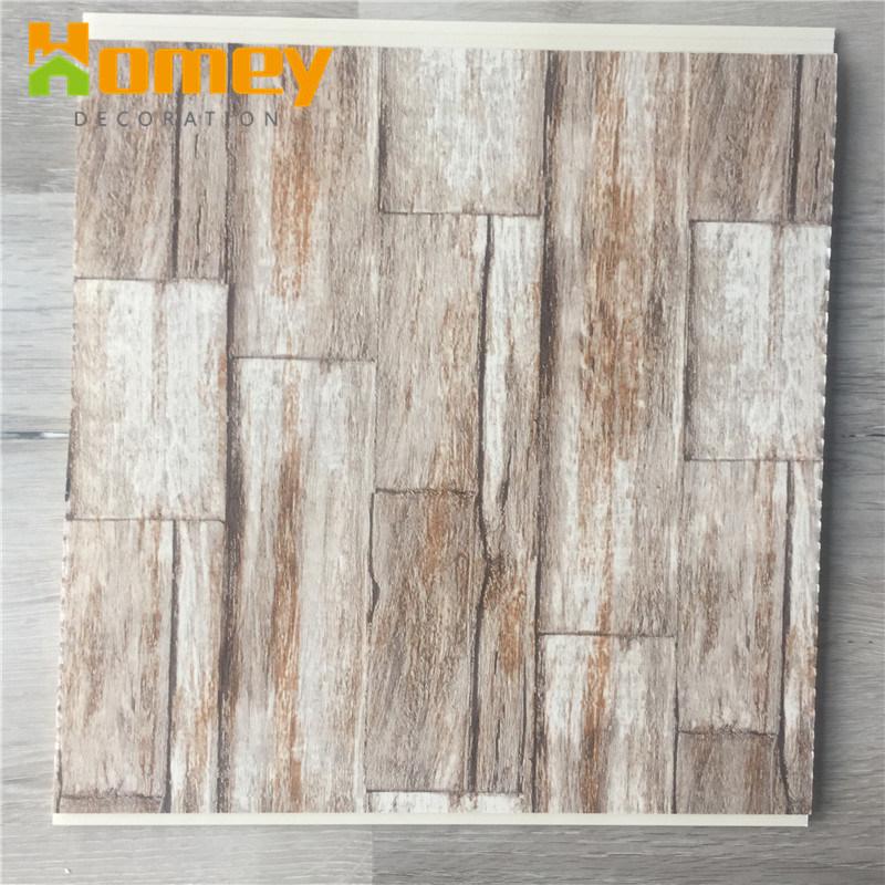 China Wood Grain Look Pvc Plastic Ceiling Panel Wall