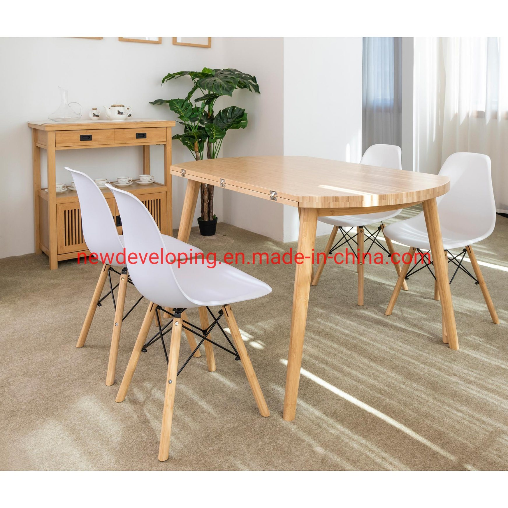 China Dining Furniture Bamboo Counter Top Dining Table Set Price Photos Pictures Made In China Com