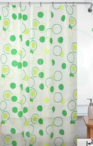 PEVA Eco Friendly Plastic Shower Curtain