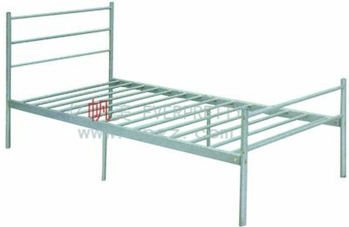 School Furniture Dormitory Steel Frame Single Bed
