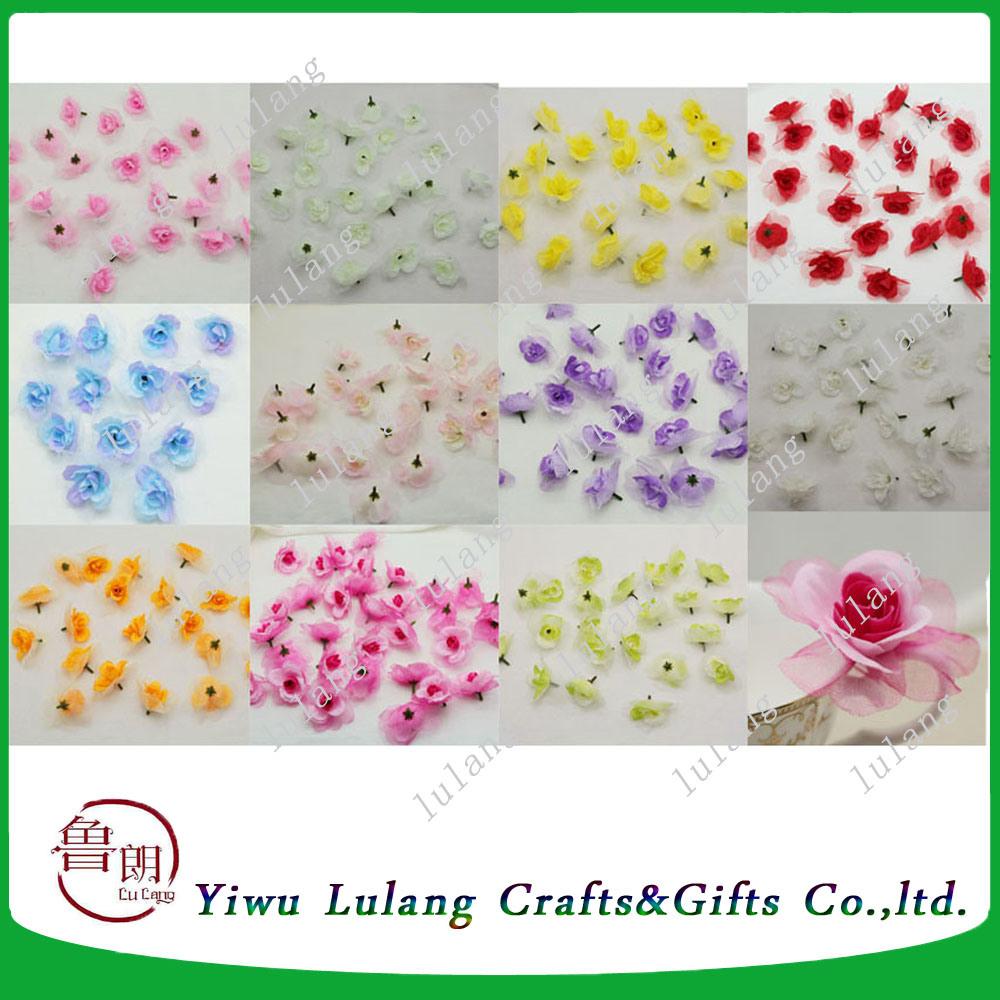 China Artificial Rose Silk Flower Head Party Wedding Decor Craft Diy