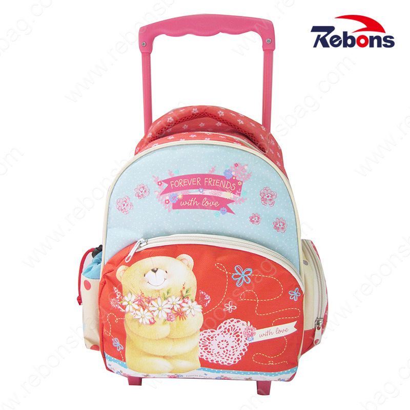 Hot Item New Designer Factory Polyester Book Bags With Wheels