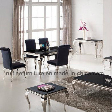 china modern europe french style stainless steel metal dining room