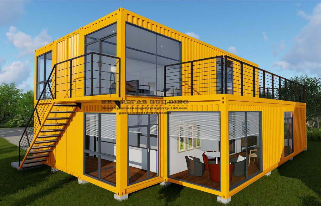 40FT Modular Prefab/Prefabricated Movable Container House for Two Floor Apartment. pictures & photos
