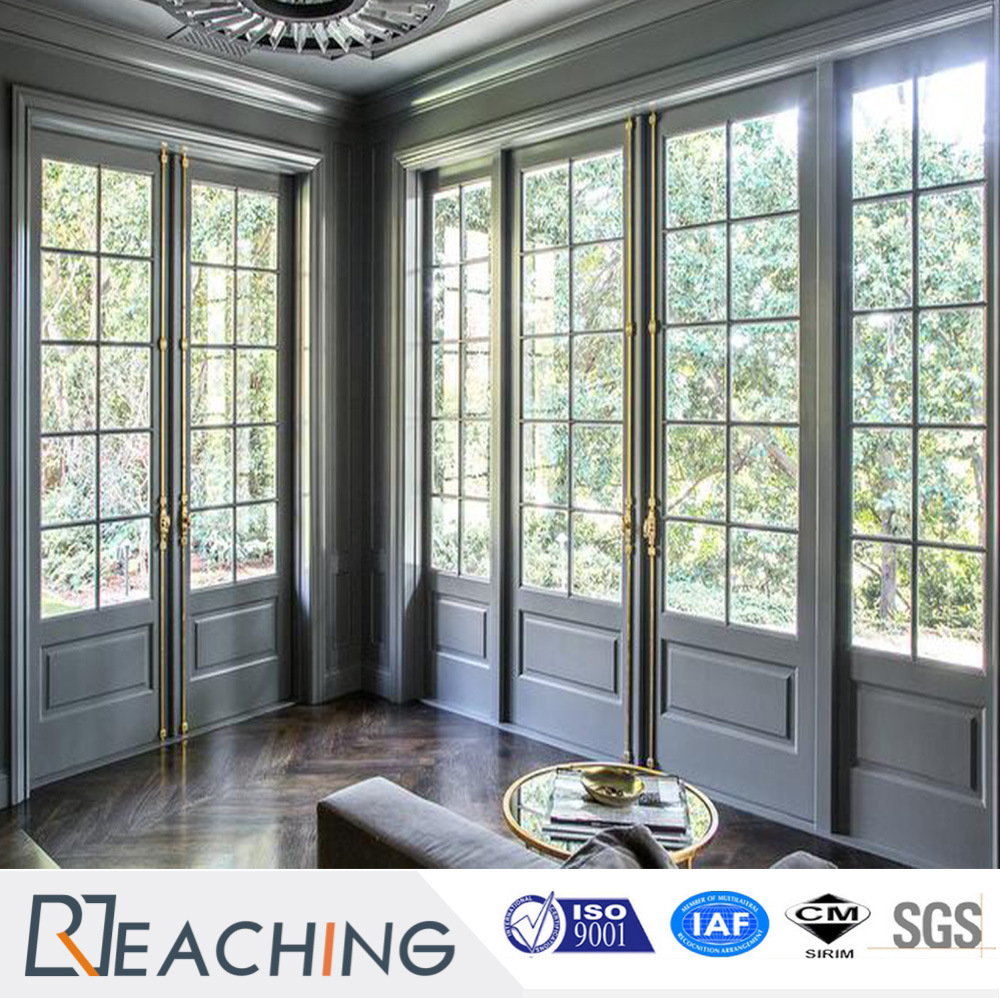 Upvc French Doors High Quality Large Wooden Front Soundproof Bedroom Door