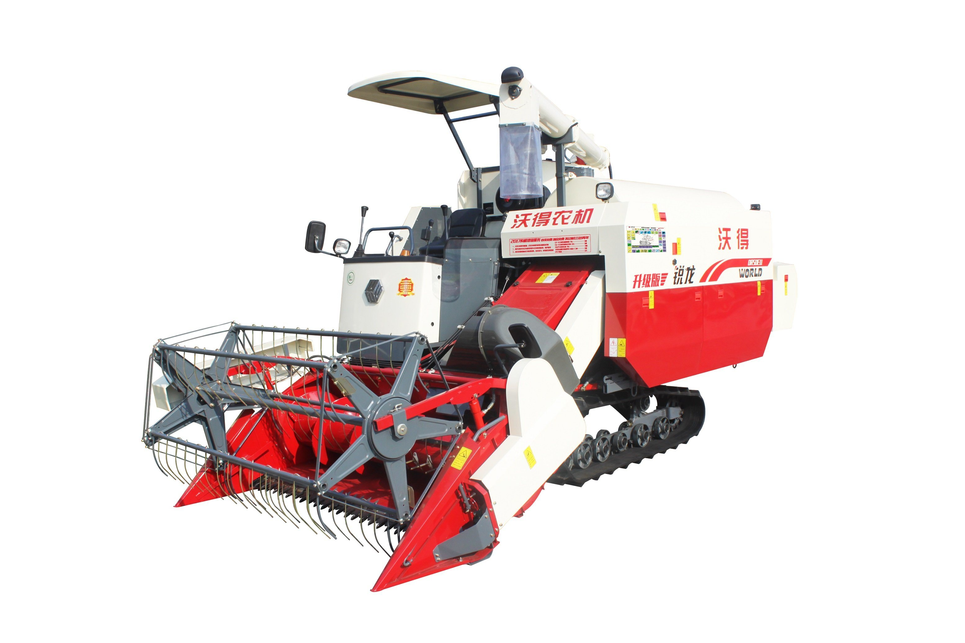 Self-Propelled Full Feed Rubber Track Combine Harvester 4lz-4.0e