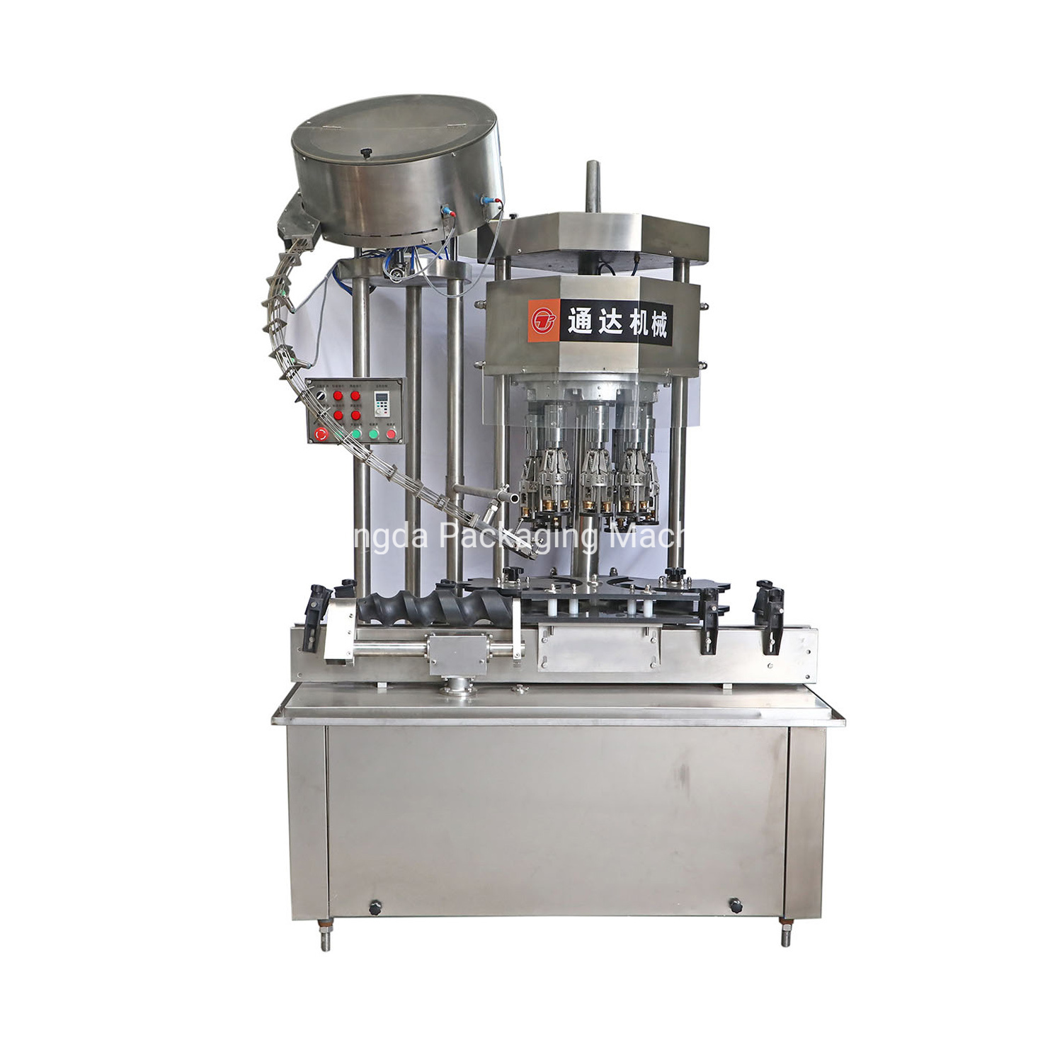 Fully Automatic Glass Bottle Screw Aluminium Cap Sealing Capping Machine