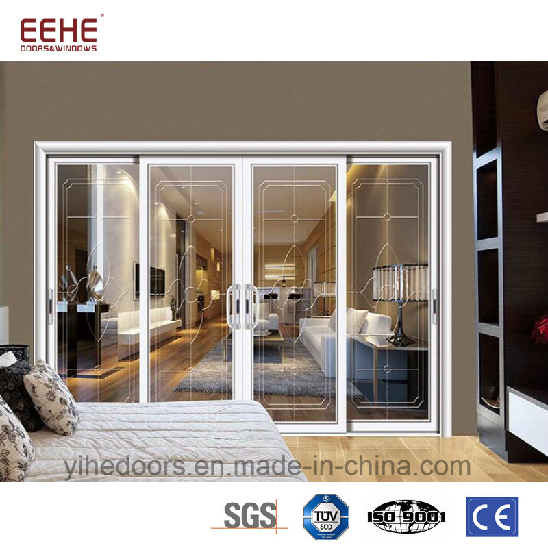 China Insulated Aluminum Sliding Door With Exterior Sliding Glass