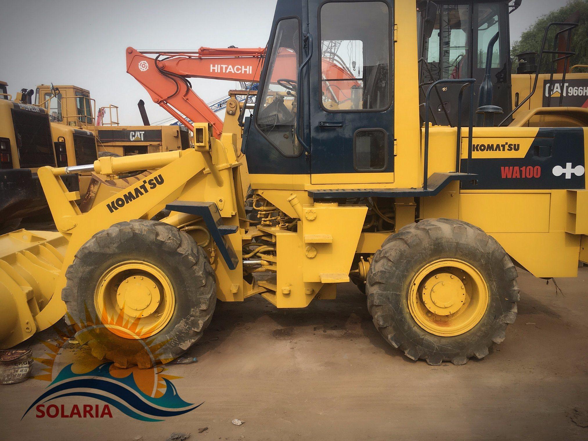 China Used Komatsu Wa100 Wheel Loader Wa100 Mini Loader - China Komatsu  Wa100, Wheel Loader