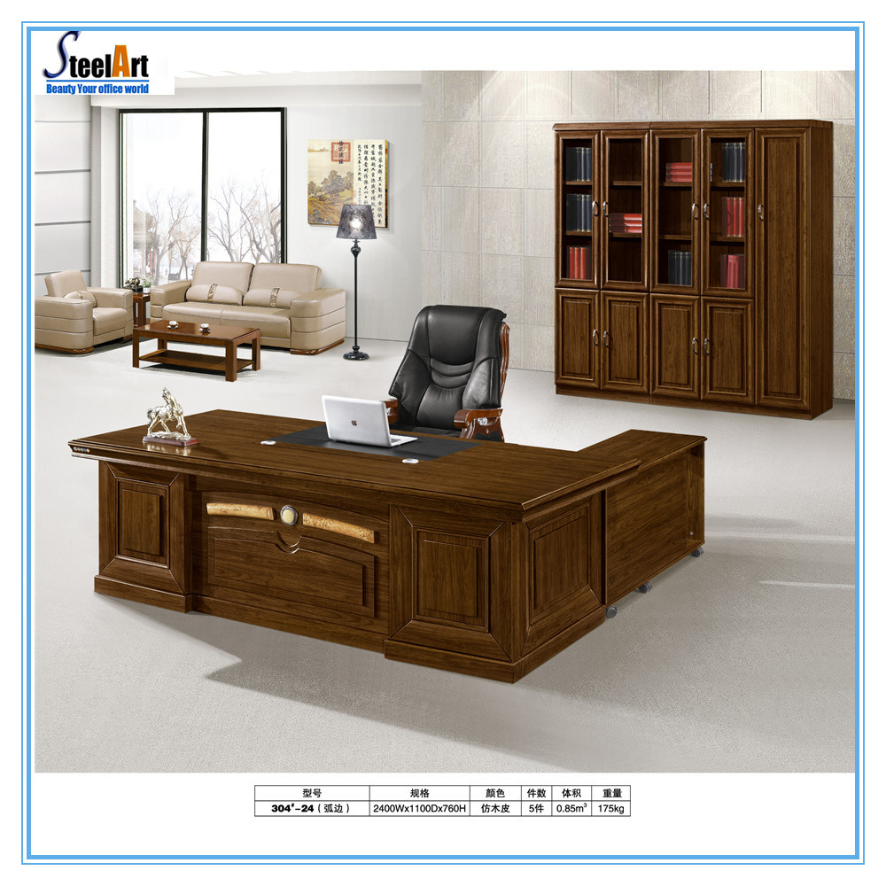 L Shaped Executive Office Table Design