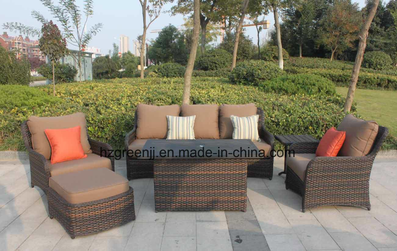 China Outdoor Furniture 10mm Half Moon Curve Flat Wicker