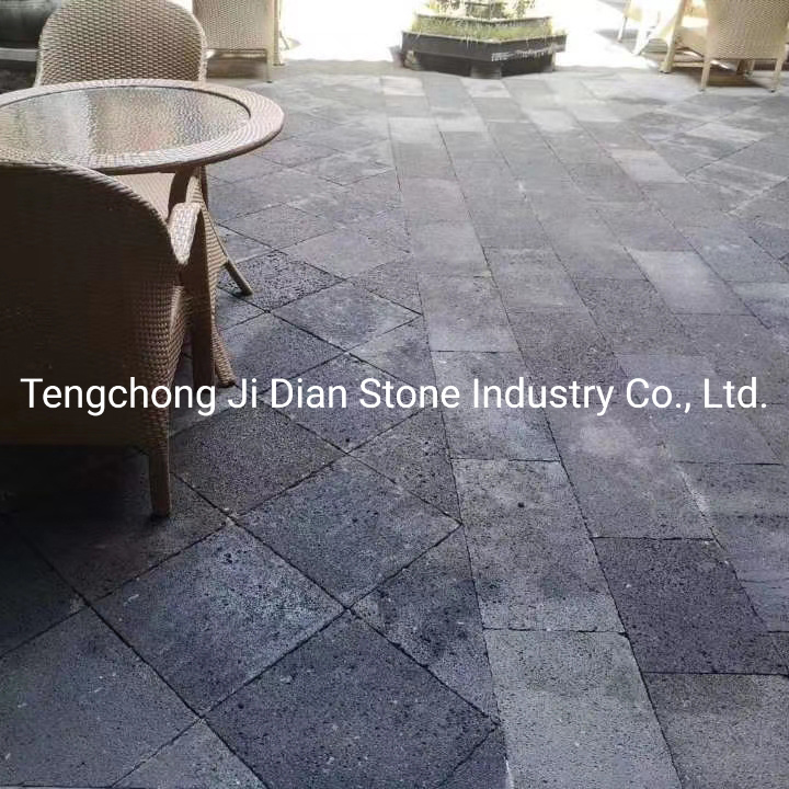Grey Volcanic Stone Slate Floor Tile