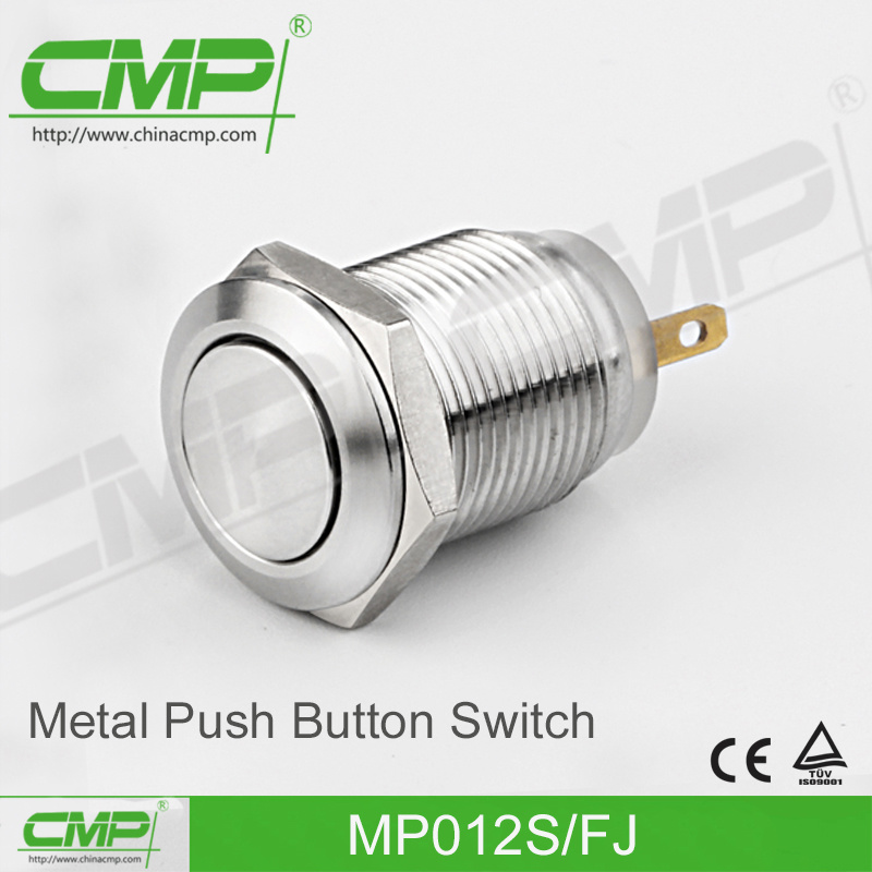 12mm on off Momentary Push Button Switch with Ring Lamp