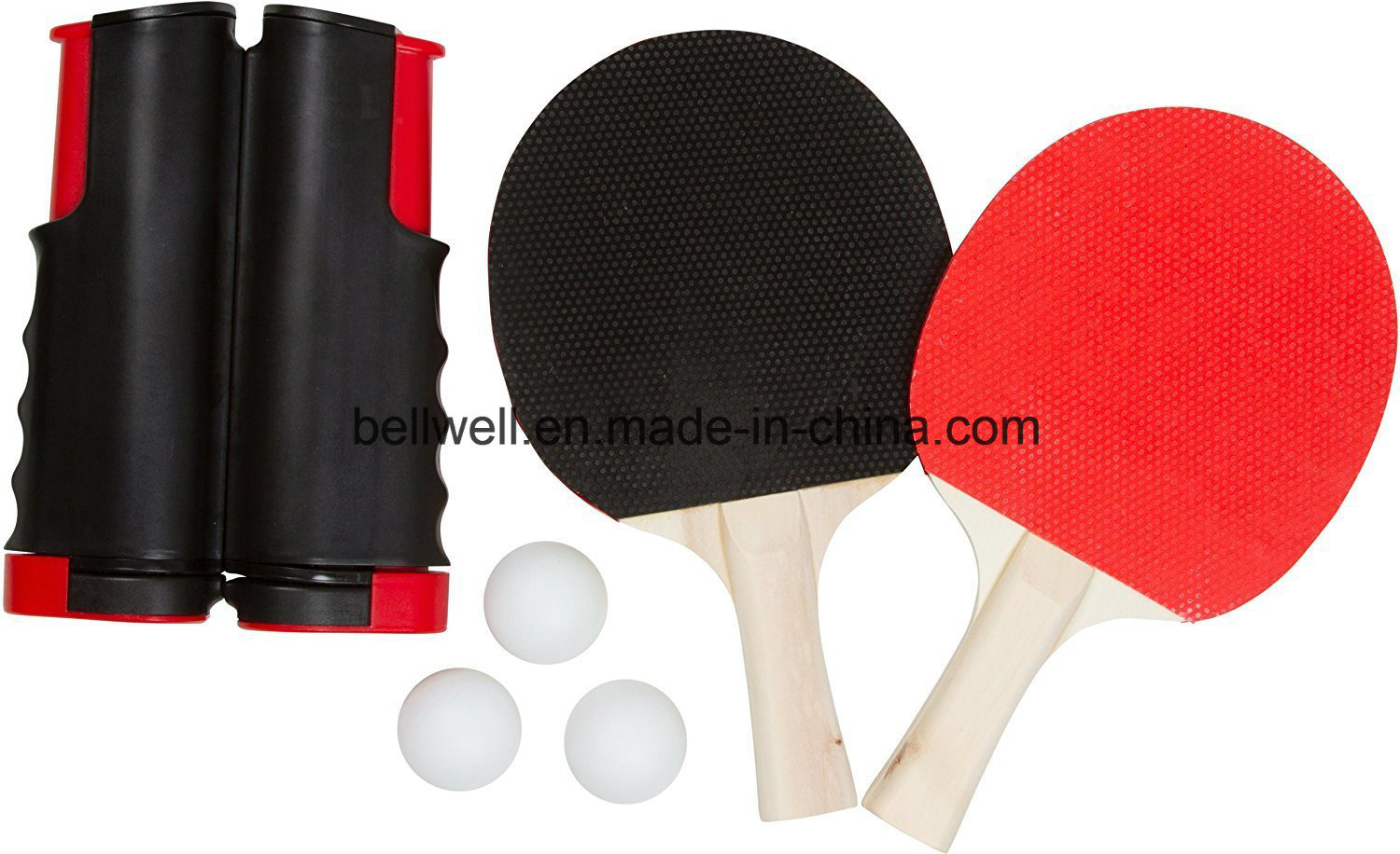 Portable Ping Pong Playset with Net, Paddles, Balls, and Carry Bag