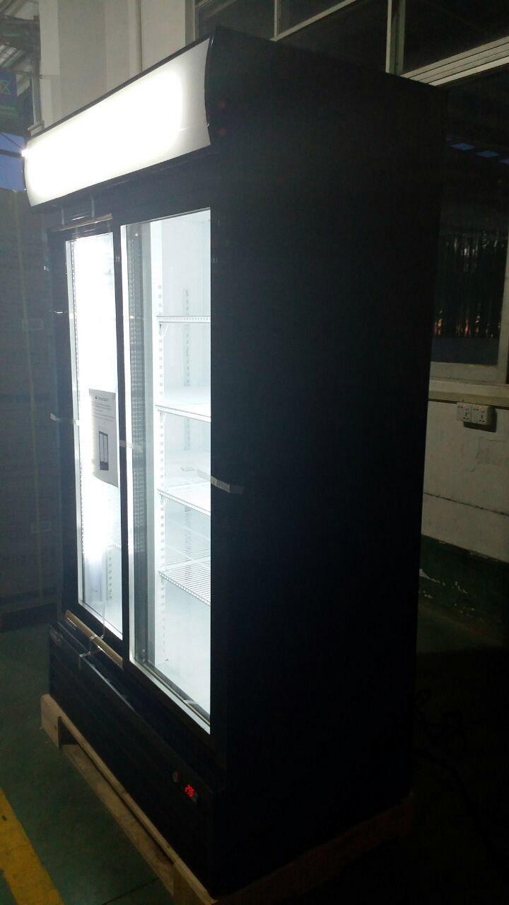 1400L Sling Door Digital Control Upright Beverage Cooler With Canopy