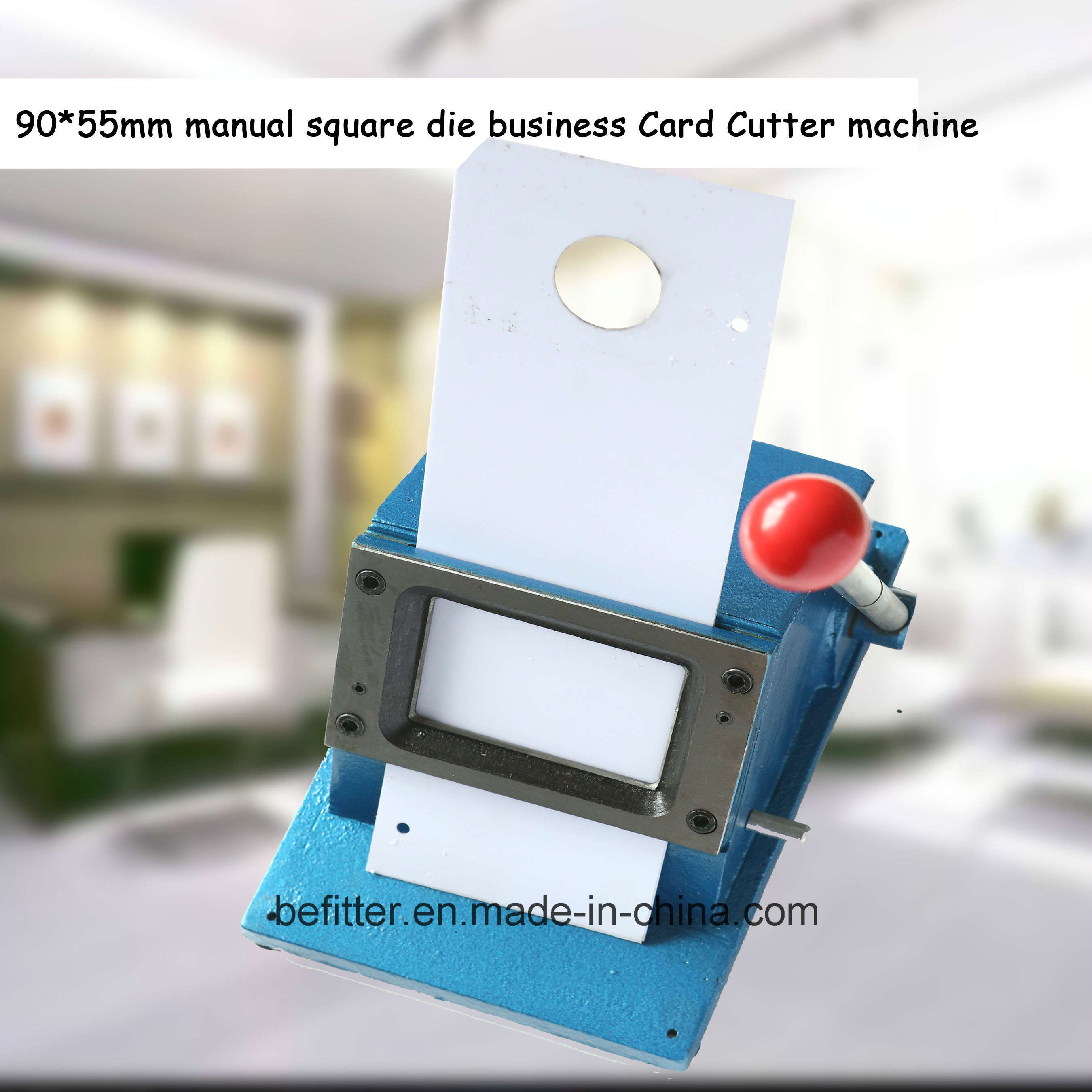 China D-010 90*55mm manual square die business Card Cutter machine ...