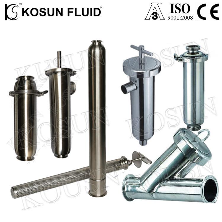 Sanitary Stainless Steel 304 Inline Y Strainer Filter Food Grade Pipeline Filter