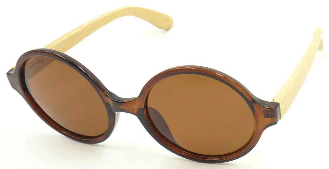 641390b8f8ef China F17154 Wholesale Wenzhou Factory Bamboo Temple Round Frame Sunglasses  - China Round Sunglass, Bamboo Temple Sunglass