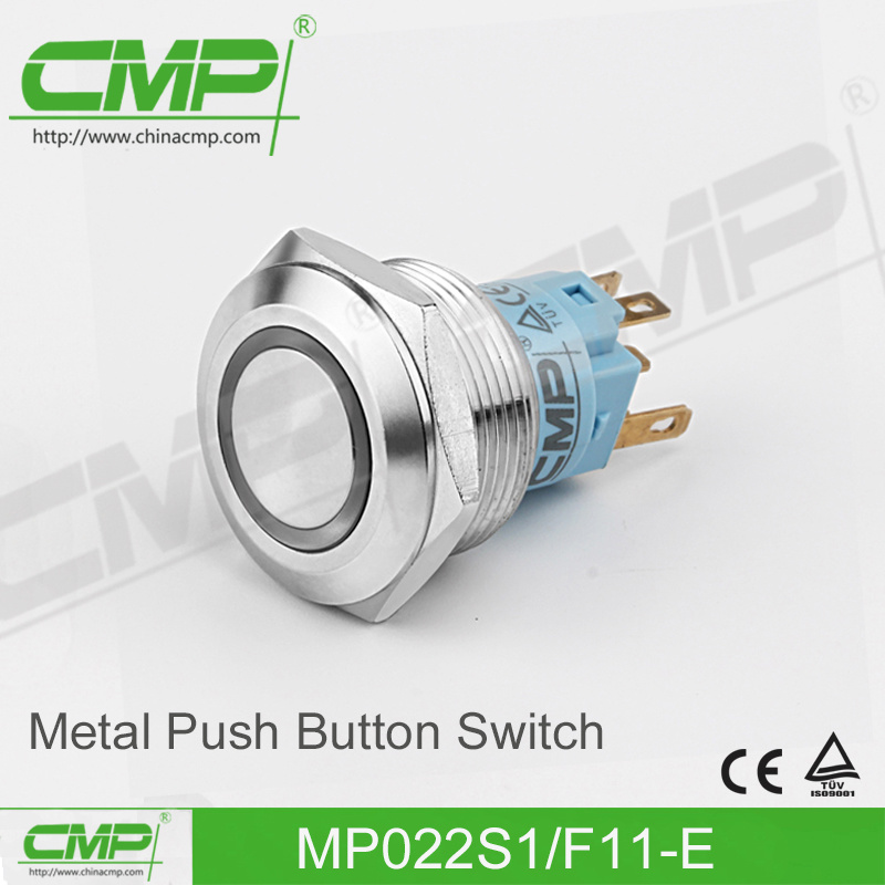 CMP 22mm Momentary Push Button Switch with Ring Illuminated Lamp