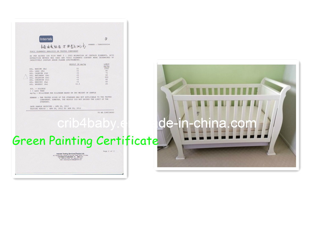 - China Green Painting Certificate/4 In 1 Nz Pine Sleigh Cot Bed