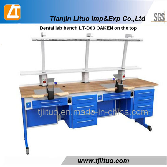 China Lt Brand Blue Color Dental Lab Work Table - China ...