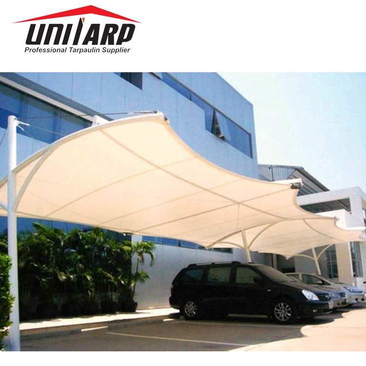 UV Resistance PVC Tarpaulin Car Packing Awning Packing Shade Roof Cover pictures & photos